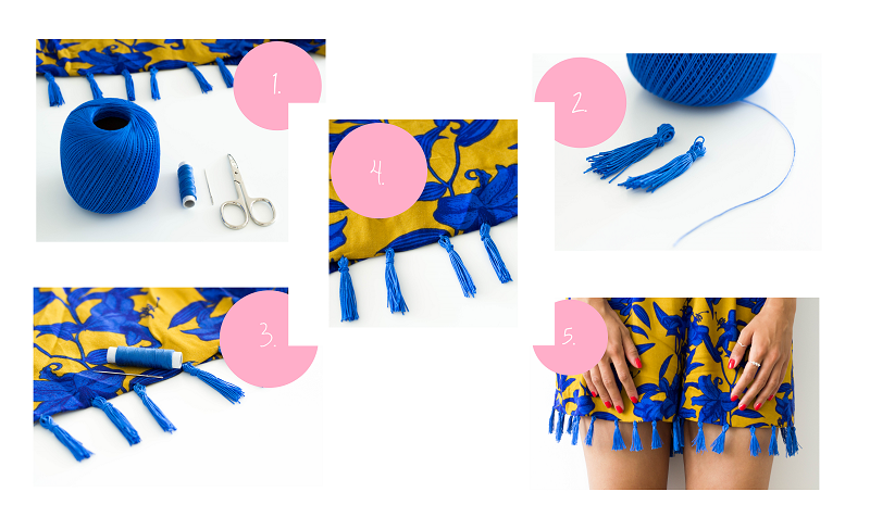 DIY: HOW TO MAKE A SHORTS WITH TASSELS